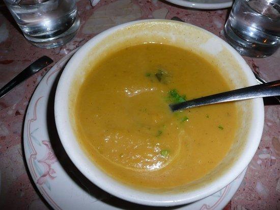 Cosmopolitan Cafe TriBeCa : butter squash soup mmmmmmmmm!