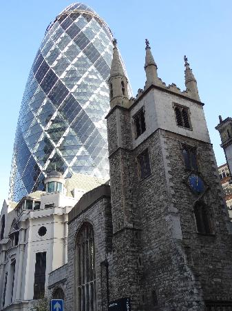 ลอนดอน, UK: gherkin building