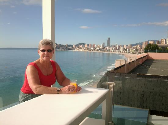 Villa Del Mar Hotel: view from the bar on the topfloor