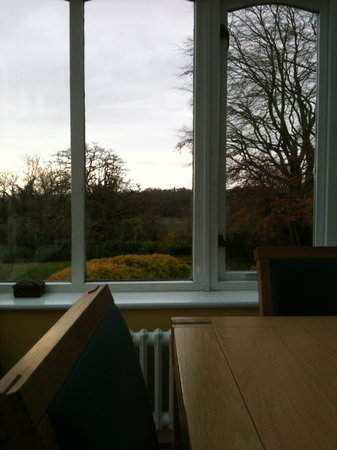 Combe House: view in the morning eating our full english!!