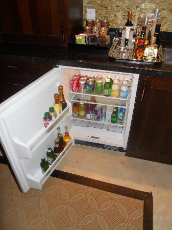 The St. Regis Bahia Beach Resort, Puerto Rico: Stocked Fridge