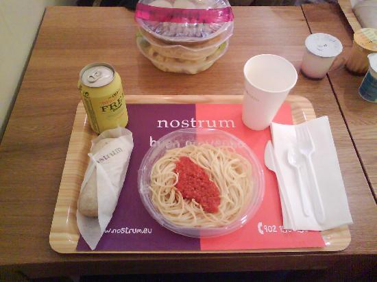 Nostrum : Presentación del menú