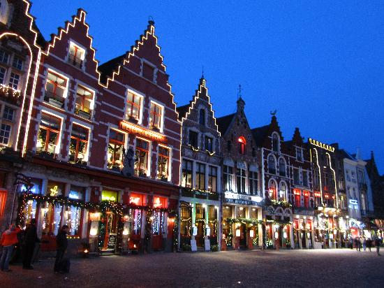 Christmas In Bruges Sweet Picture Of Historic Centre