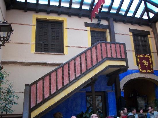 La Muralla: Patio del restaurante