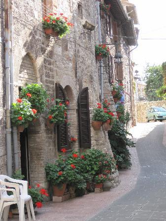 Hotel San Francesco: vicoletti nel centro storico..entrata dell'hotel