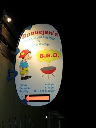 Bobbejan's: The sign out front