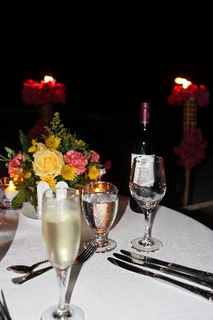 Beaches Turks and Caicos Resort Villages and Spa: candle light dinner on the beach