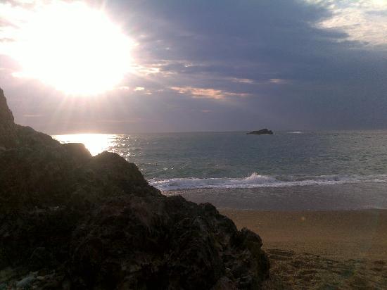 Smugglers on the Beach: sunrise on the beach