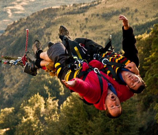 Shotover Canyon Swing & Canyon Fox: Mid air Tandem Gimp Boy