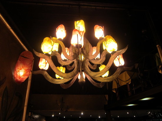 Rave: one of the chandeliers