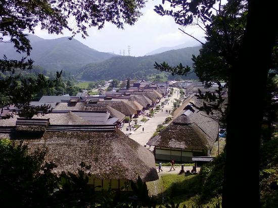 Ouchijuku: 山から