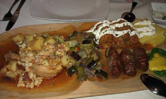 Daniela's restaurant: Transylvanian Platter for 2!