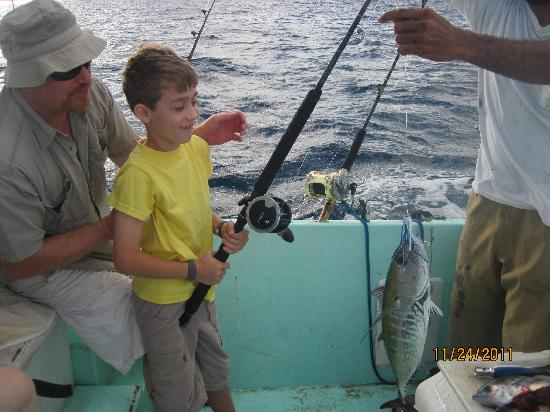 Roatan Fishing Charter: Our youngest angler
