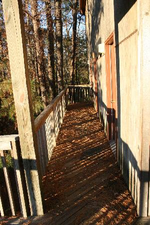 Adventure Bound Campground : Unswept deck