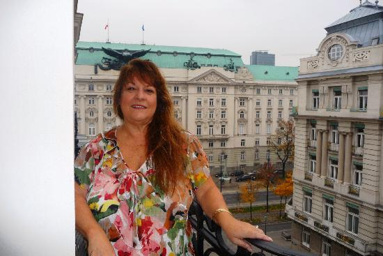 Pension Riedl: me on the balcony of room 10