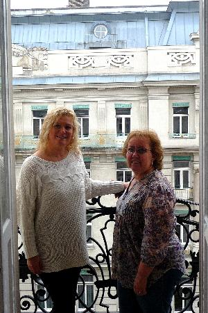 Pension Riedl: Fina and June enjoying the balcony