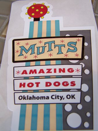 Free sticker! - Picture of Mutts, Oklahoma City - TripAdvisor