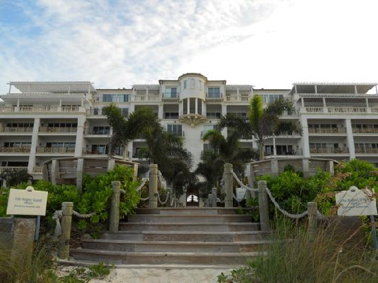 The Regent Grand: Resort as viewed from Grace Bay beach