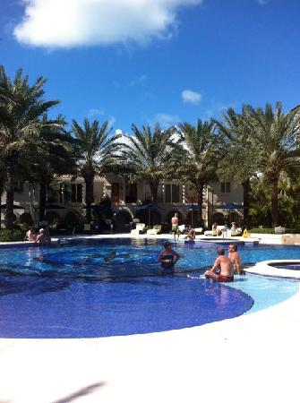 "The Regent Grand: pool area - note ""lounging"" area at edge of pool"