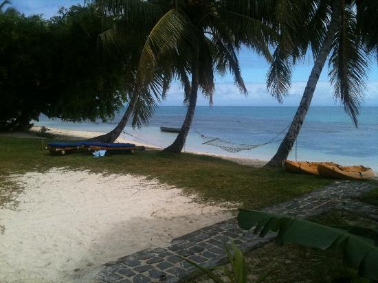 Hotel Eco-Lodge Ravoraha: vue de notre bungalow