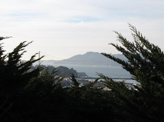 View From Coit Tower Parking Lot Of Golden Gate Bridge