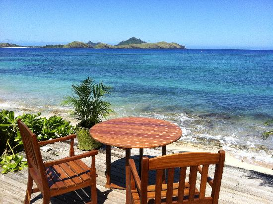 Tokoriki Island Resort: Table with a view