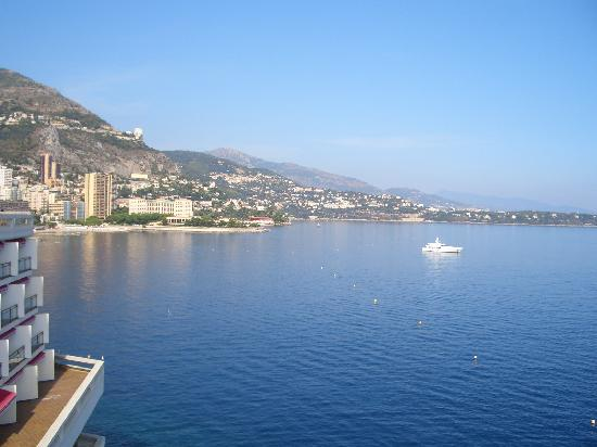 Hotel Napoleon: View from Monte Carlo towards Menton