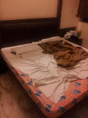 Hotel Gold Regency: とにかくシーツが汚い!シミだらけ虫だらけ!