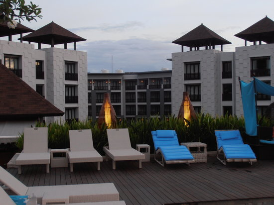 Pullman Bali Legian Beach : View of the hotel from the rooftop