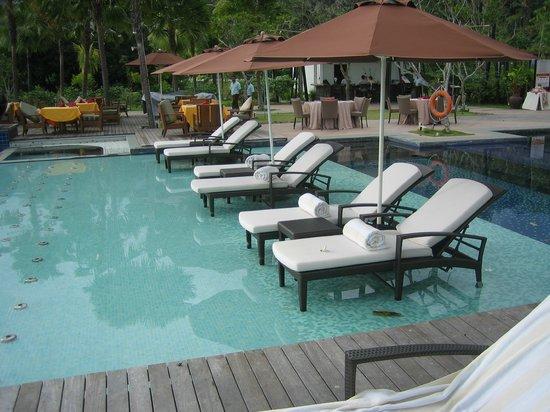 The Danna Langkawi, Malaysia: Pool loungers.