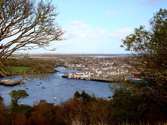 Arnish View B&B: View of Stornoway town from Gallows Hill on Lews Castle grounds.