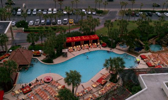 view of pool from the 15th floor picture of the san luis resort galveston tripadvisor. Black Bedroom Furniture Sets. Home Design Ideas