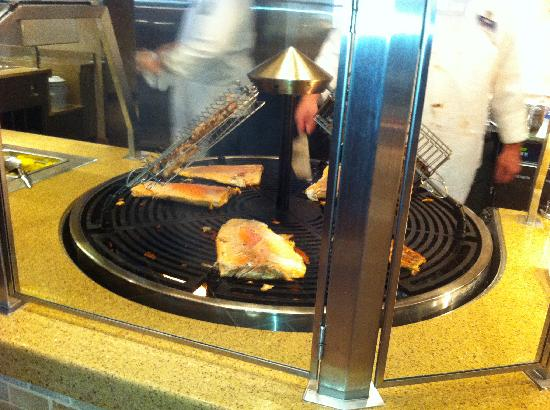 Chef's Stage Buffet: Grilled Salmon and Ribs