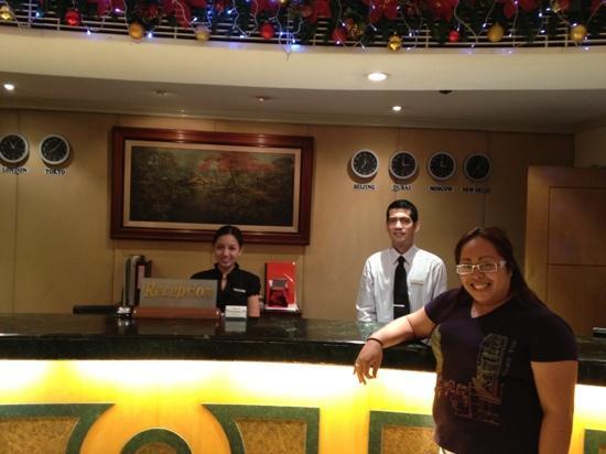 Berjaya Makati Hotel - Philippines: reception staff