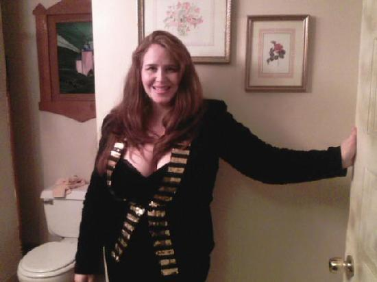 Circleville, OH: My costume as the Pro-Dartist for the Murder Mystery