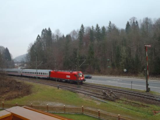 Gästehaus Achental: View from our window.  Trains didn't bother us though.