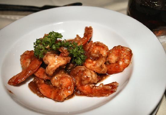 Boomerang Village Resort: Prawns in Tamarind Sauce at Cafe Del Sol, YUMMY!