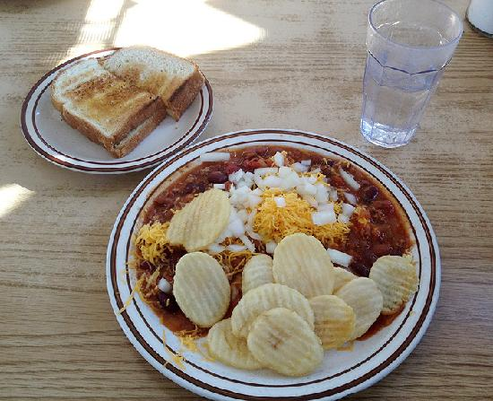 Chuck's Coffee Shop: The signature weasel omelet.