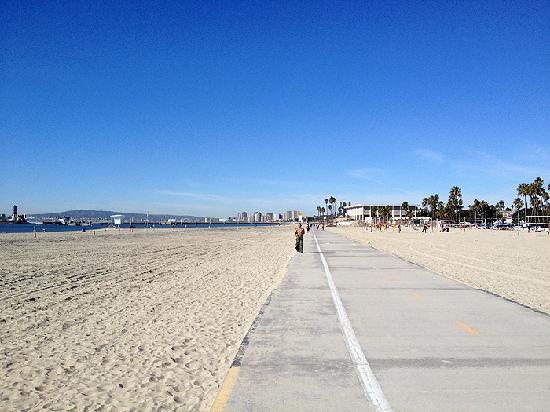 Chuck's Coffee Shop: Beach bike path leading up to Chuck's.
