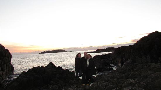 Wickaninnish Inn and The Pointe Restaurant: Our photo taken by the staff