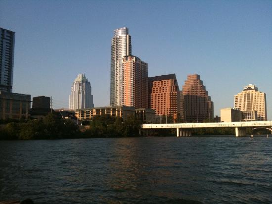 Lady Bird Lake Hike-and-Bike Trail : View of Downtown Austin from Trail