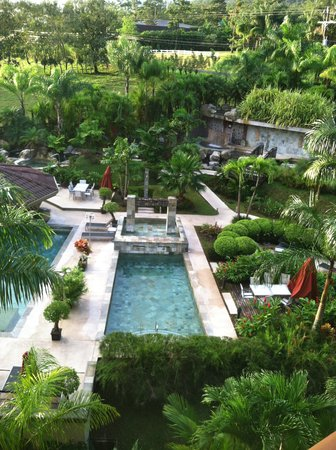 The Royal Corin Thermal Water Spa & Resort: view from my room overlooking pool area