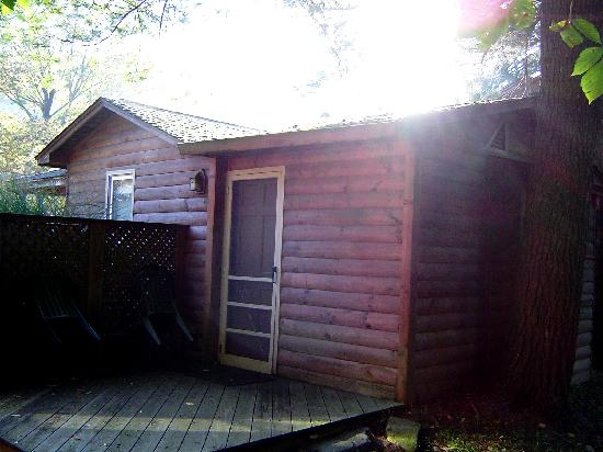 The Cabins at Brookside: Back door of smallest cabin.