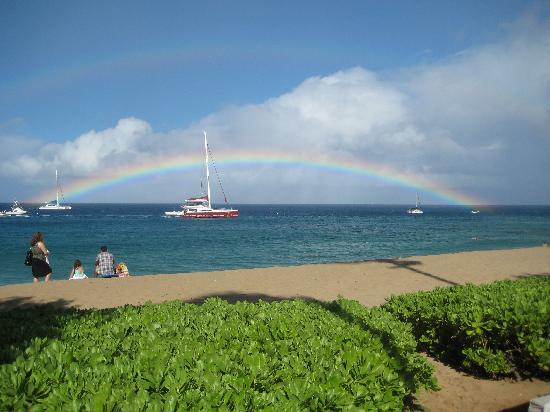Ka'anapali Beach: double rainbow Kaanapali Beach