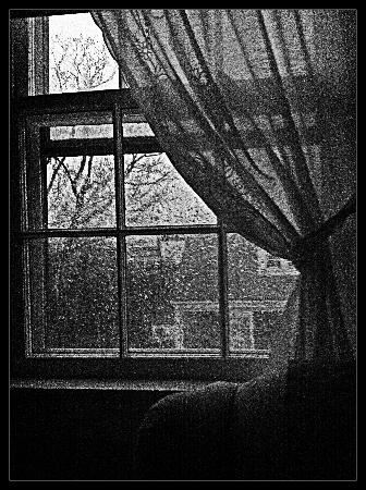Brass Lantern Inn: rainy day as we left