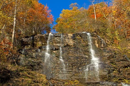 Amicalola Falls Lodge: The Falls - upper section, dry season