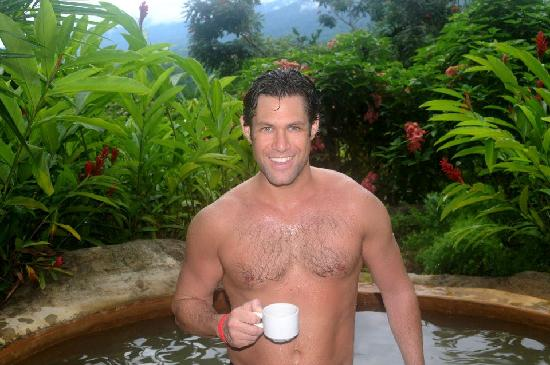 The Springs Resort and Spa: costa rican coffee in our private hot spring