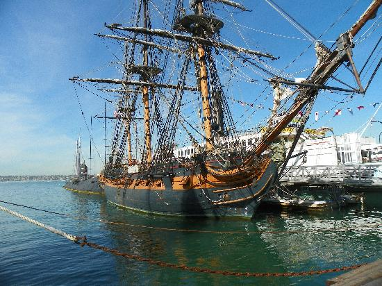 Replica Of Royal Navy Frigate Hms Surprise Used In