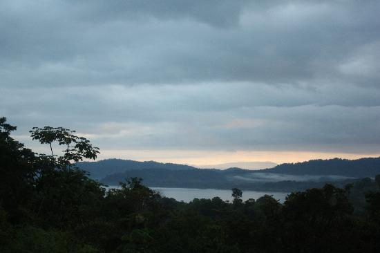 Pura Vista Corcovado Ecocamp: View from dinner - sunset