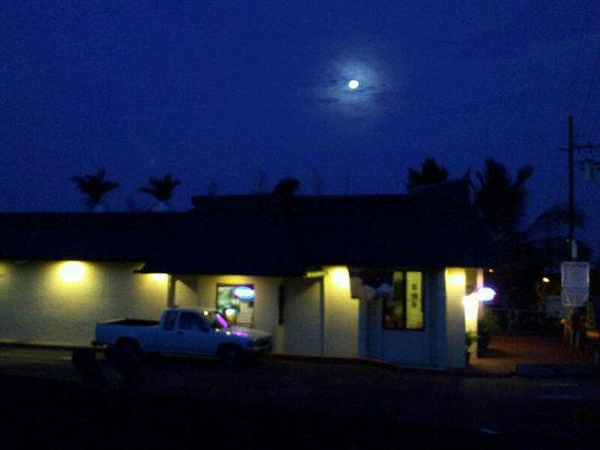 Mahina Cafe under the moon light